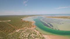 Drone Footage of Francois Peron National Park, Australia Stock Footage