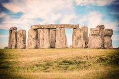 The mysterious Stonehenge Stock Photos