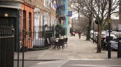London pub: al fresco setting, England, Europe Stock Footage
