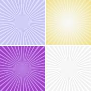 Set of color radiant backgrounds Stock Illustration