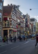Stock Photo of Urban Life in Modern European City Amsterdam