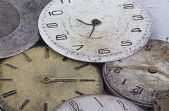 Macro watches background - stock photo