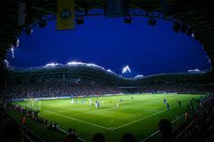 Borisov-Arena stadium in august 2014, Belarus Stock Photos