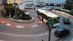 The Famous F1 Turn in Monaco Time Lapse Stock Footage