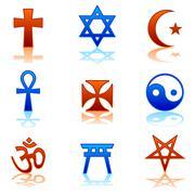 Religious icons - stock illustration