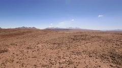 Mirador de los Andes, active volcano in the distance Stock Footage