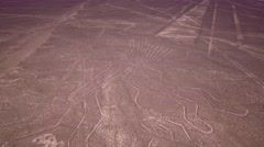 Flight over Nazca lines Stock Footage