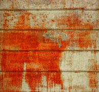Corrosion on construction metal sheet Stock Photos