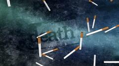 Death smoking blue black Stock Footage