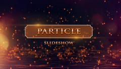 Particle Slideshow - stock after effects