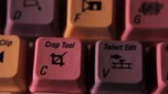 video editing keyboard symbols macro - stock footage