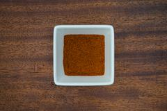 Paprika in White Bowl Stock Photos