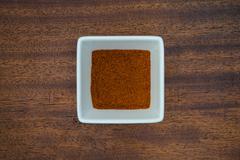 Paprika in White Bowl - stock photo