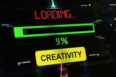Stock Photo of Loading creativity