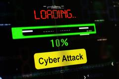 Loading cyber attack Stock Photos