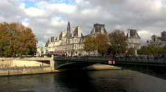 Stock Video Footage of Hotel de Ville, the city hall of Paris. France.
