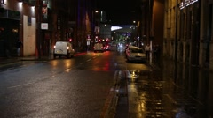 Liverpool at night, England, Europe - stock footage