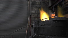 Lost wax bronze casting in a foundry Stock Footage