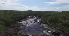 Sailing backwards over Cano Cristales Arkistovideo