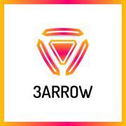 Trinity Arrow Reactor Logo Stock Illustration