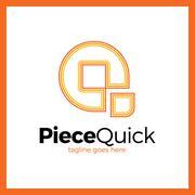 Quick Piece - Letter Q Logo Stock Illustration
