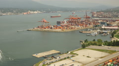 Aerial View Timelapse Vancouver harbor Stock Footage