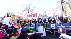 Cologne Carnival sad float of Colonia  Stock Footage