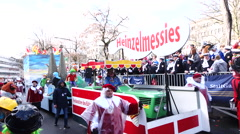 Cologne Carnival Heinzel Gnome float Stock Footage