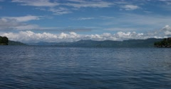 Lake Toba Landscape Stock Footage