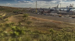 View of the industrial zone, loading terminal (time-lapse) Stock Footage