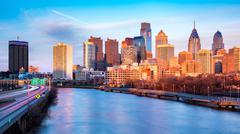 Late afternoon in Philadelphia - stock photo
