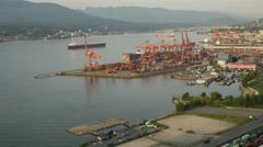 Aerial View Timelapse Vancouver, Canada Stock Footage