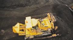 Big cars coal loading Stock Footage