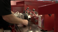 Sharpening Ice Skates. Stock Footage