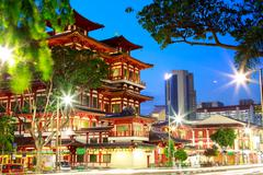 Buddha Toothe Relic Temple  Chinatown  Singapore - stock photo