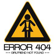 Icon Illustration Vector Graphic Error 404 Girlfriend not found - stock illustration