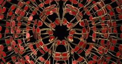 Visual EDM Techno Club Vj Abstract New Stock Footage