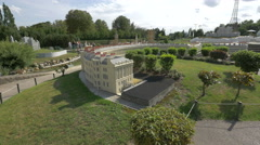 Royal Crescent from United Kingdom displayed at the Mini-Europe, Brussels Stock Footage