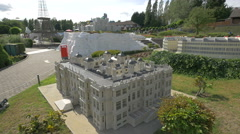 Longleat House from United Kingdom displayed at the Mini-Europe, Brussels Stock Footage