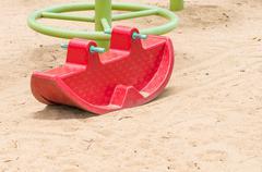 Plastic rocking toy - stock photo