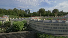 The Royal Crescent displayed at the Mini-Europe, Brussels Stock Footage