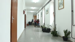 Students in the school hall - stock footage
