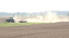 Field preparation works Stock Footage