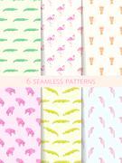 African Seamless Patterns. Vector Set Stock Illustration