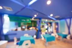 Blurred canteen - stock photo