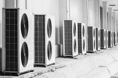 Air conditioner outdoor units Stock Photos