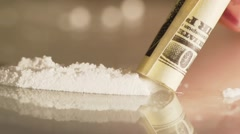 Use Of Cocaine Drug slo-mo Stock Footage