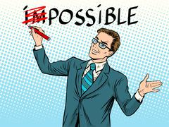Impossible possible business concept - stock illustration