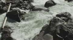 120fps slow motion rapid river close up Red Dragon Camera Stock Footage