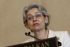 Bulgaria Politics Irina Bokova - stock photo